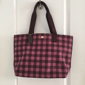 COACH NWOT Primrose Gingham Canvas Tote